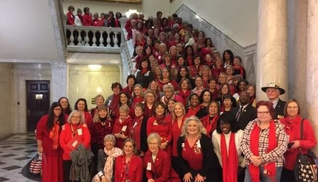 MFRW in Annapolis for Red Scarf Day 2018!