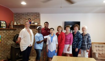 MFRW presents check from First Lady's Luncheon to Barstow Acres Children's Center