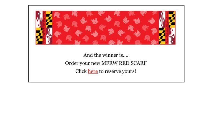 Order your MFRW RED SCARF today!!