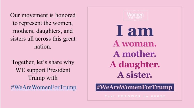 #WeAreWomenforTrump